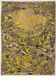 Carta inchiostro,foglia d'oro 6