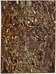 Carta inchiostro,foglia d'oro 8
